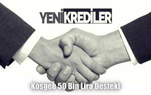 Kosgeb 50 bin Lira Destek