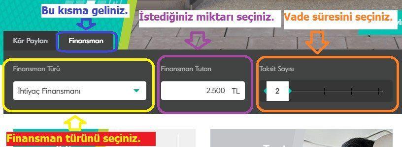 turkiye finans faizsiz kredi