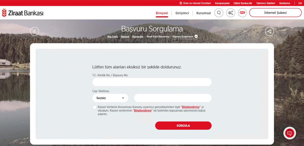 Ziraat Bankası temel ihtiyaç kredisi başvuru sonuç ekranı takibi